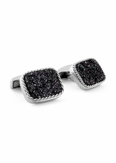 Druzy Rectangle Cuff Links