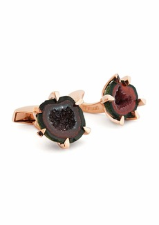 Tateossian Geode Rose Golden Cuff Links