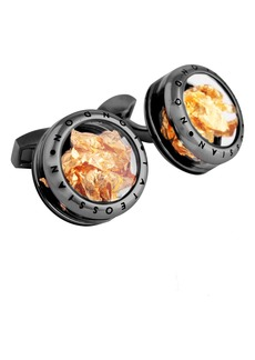 Tateossian Gold Leaf Cuff Links