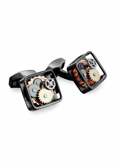Tateossian Gunmetal Gear Cuff Links