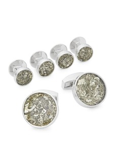 Tateossian Industrial Round Cuff Links