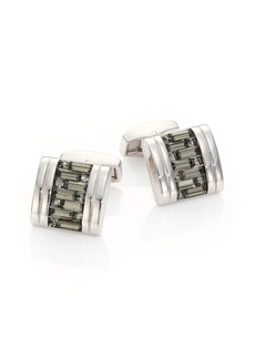 Tateossian Interlocked Swarovski Crystal Cuff Links