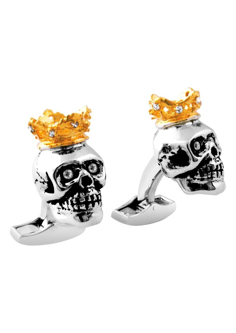 Tateossian King Skull Cuff Links