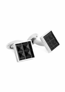 Tateossian Leather Pyramid Cuff Links