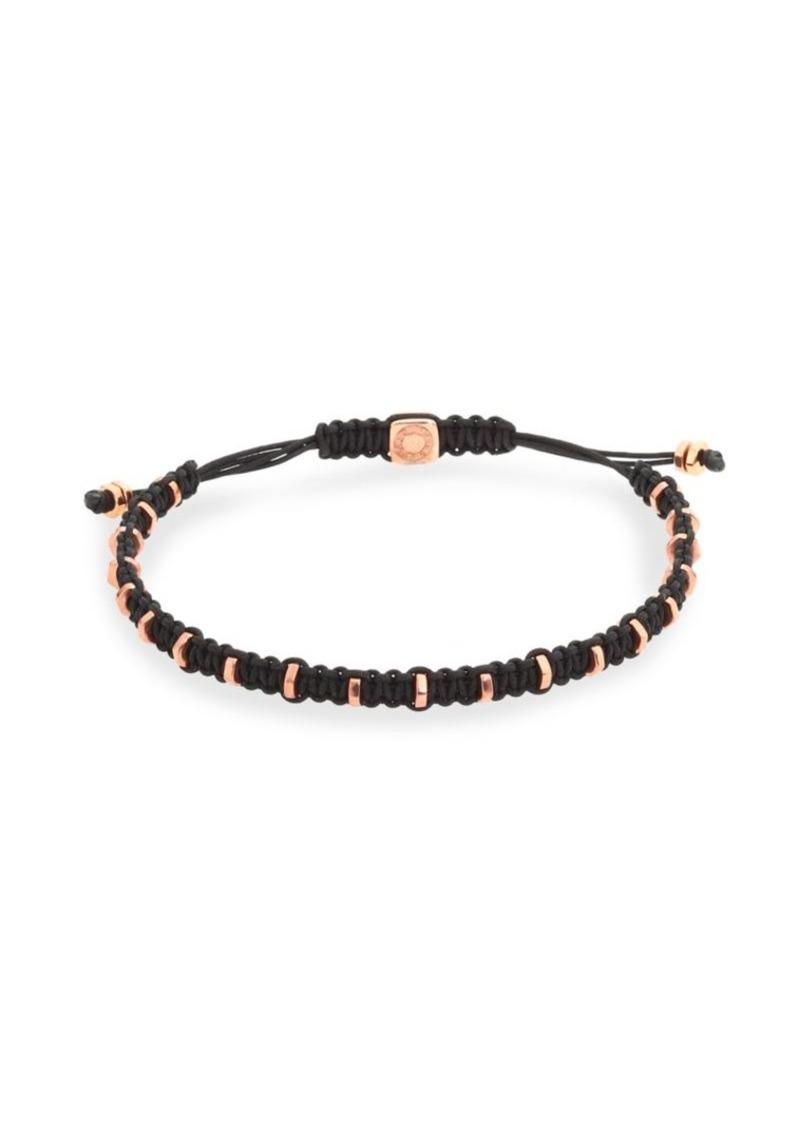 Tateossian Macrame Silver Bracelet