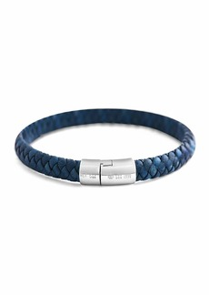 Tateossian Men's Classic Braided Leather Cobra Bracelet