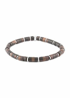 Tateossian Men's Ebony Wood Bead Bracelet