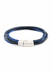 Tateossian Men's Multi-Strand Leather Cobra Bracelet