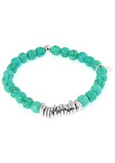 Men's Round Turquoise Beaded Bracelet