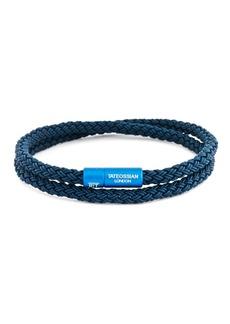 Tateossian Men's Rubber Double-Wrap Bracelet  Blue