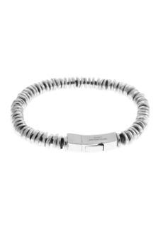 Tateossian Men's Sterling Silver Disc Bead Bracelet