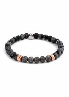 Tateossian Men's Stonehenge Bead Bracelet