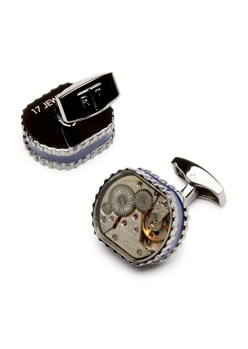 Tateossian Men's Tonneau Gear Cufflinks