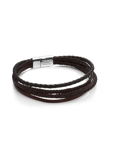 Tateossian Montecarlo Leather Bracelet