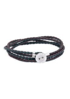 Tateossian Muliple-Strands Leather Bracelet
