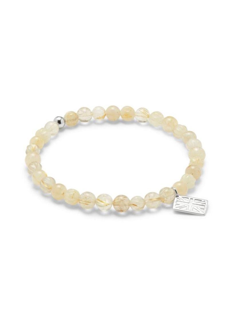 Tateossian Quartz & Sterling Silver Bracelet