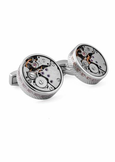 Tateossian Rhodium Gear Cuff Links