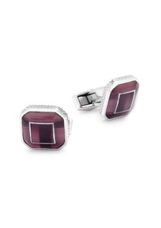 Tateossian Riga Square Optic Glass Cufflinks