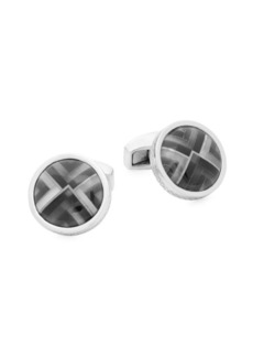 Tateossian Rond Kaleidoscope Polished Cufflinks