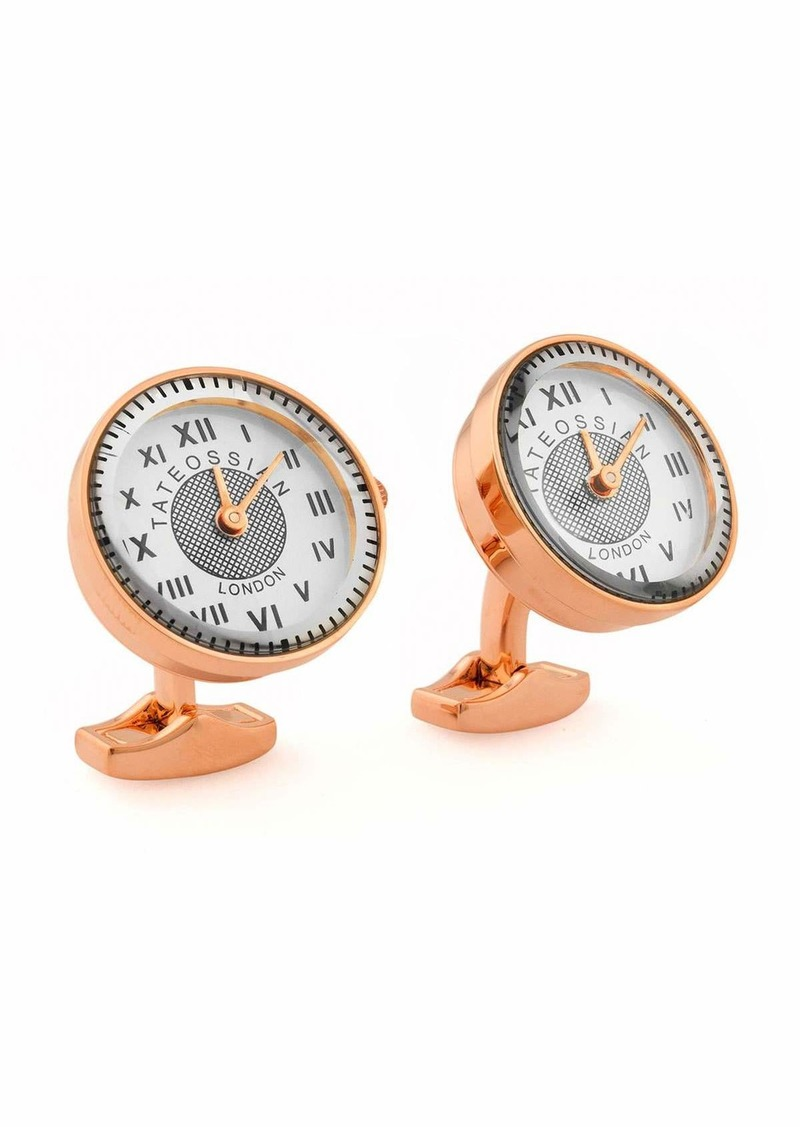 Tateossian Rose Gold-Plated Watch Cuff Links