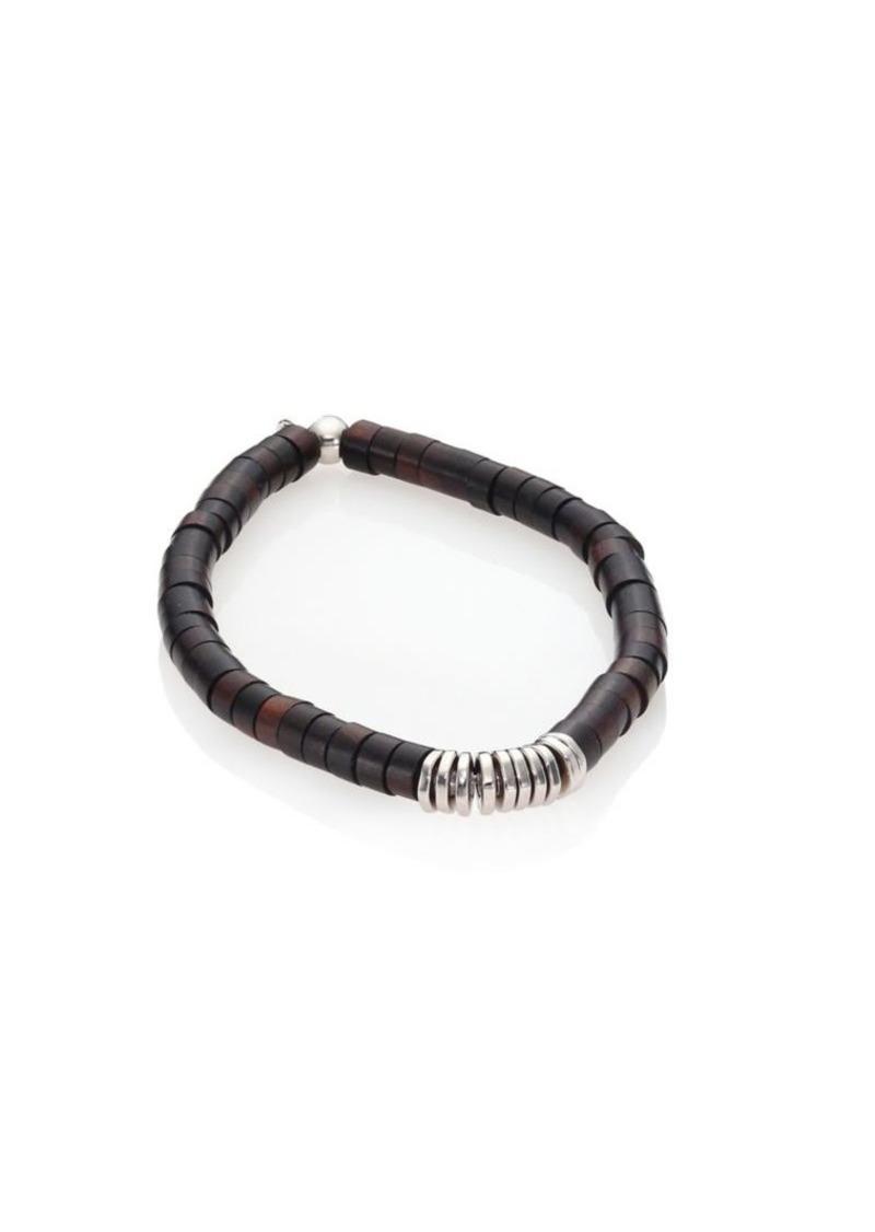 Tateossian Silver Bamboo Bracelet