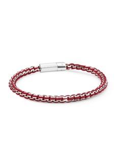 Tateossian Silver Catena Rigato Chain Bracelet