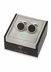 Tateossian Silver-Plated Carbon Cuff Links