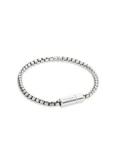 Tateossian Silver Snake Chain Bracelet