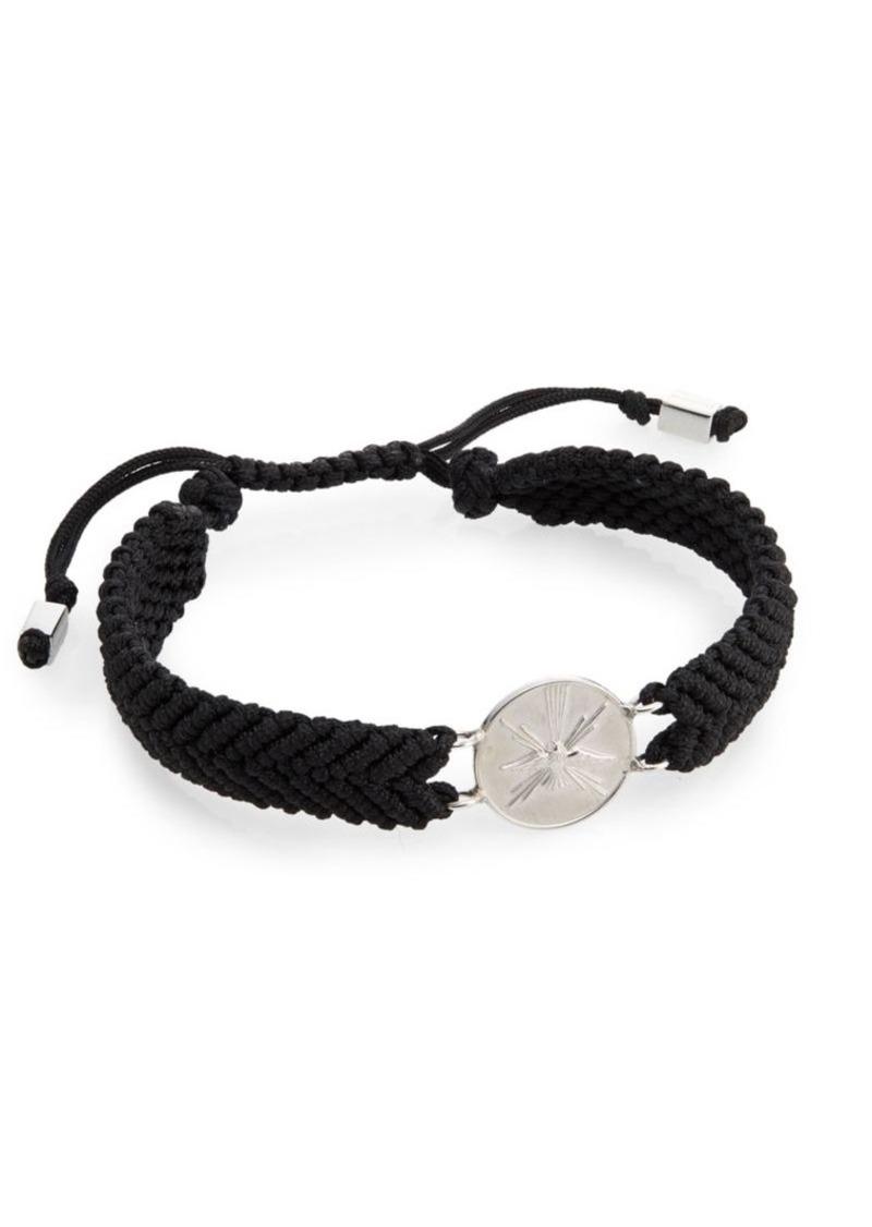 Tateossian St. Espirit Macramé Medallion Bracelet