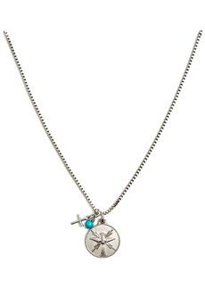 Tateossian St. Espirit Sterling Silver Medallion Necklace