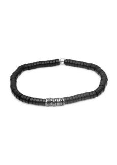 Tateossian Sterling Silver & Bamboo Bracelet