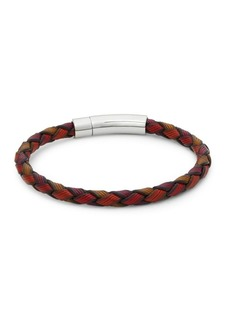Tateossian Sterling Silver and Leather Bracelet