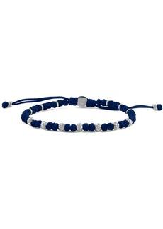 Tateossian Sterling Silver Bead Braided Bracelet