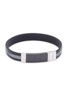 Tateossian Sterling Silver Contrast Bracelet