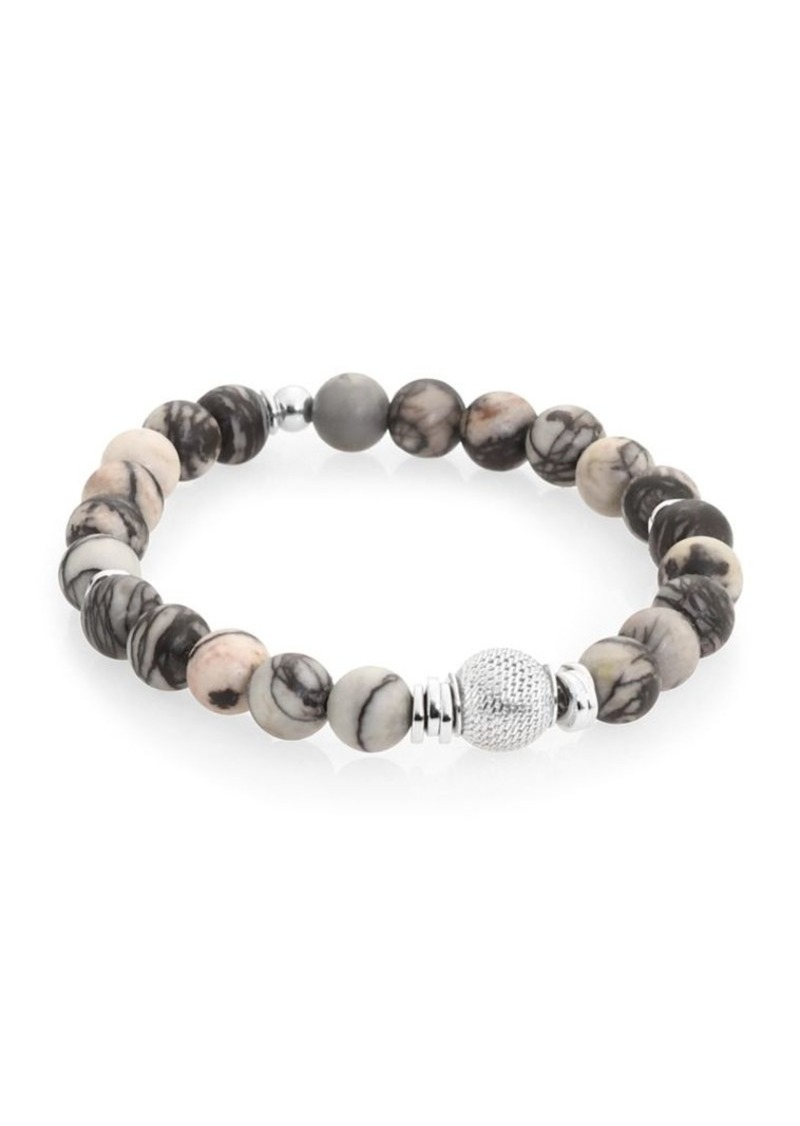 Tateossian Stonehenge Sterling Silver & Semi-Precious Stone Beaded Bracelet