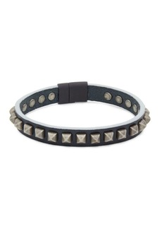 Tateossian Studded Leather Bracelet