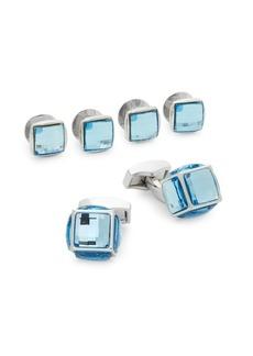 Tateossian Swarovski Button Stud & Cufflink Set