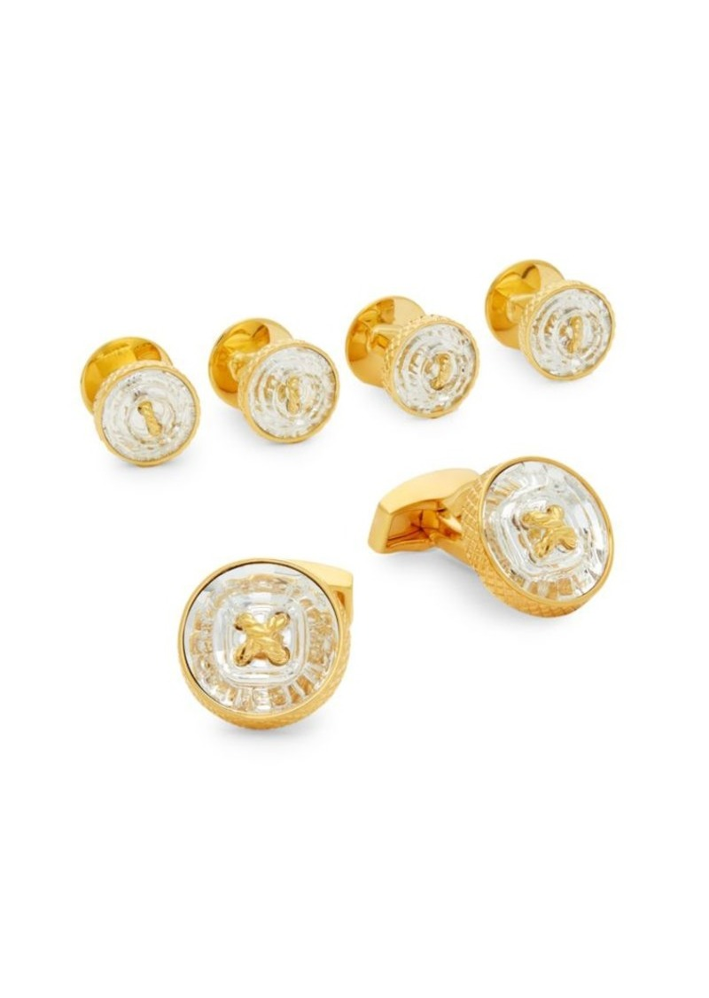 Tateossian Swarovski Button Stud & Cufflink Set