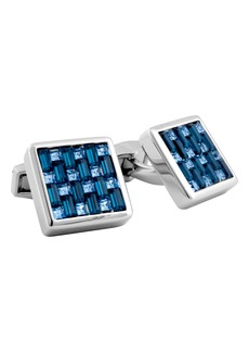 Tateossian Swarovski Square Cuff Links