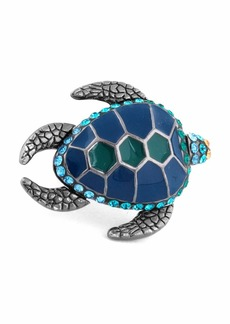 Tateossian Swarovski® Turtle Lapel Pin  Blue