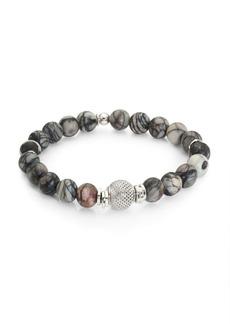 Tateossian Silver Beaded Bracelet