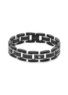 Titanium and Carbon Fiber Link Bracelet