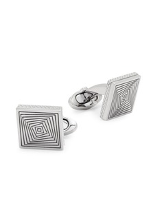 Tateossian Titanium Square Graphic Cufflinks