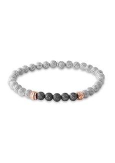 Tri-Tone Silver Beaded Bracelet