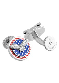 Tateossian USA Rotating Flag Cuff Links