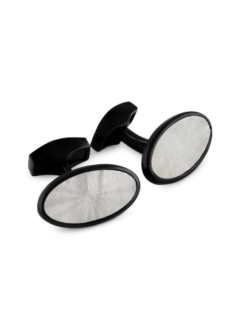 Tateossian Textured Oval Cufflinks