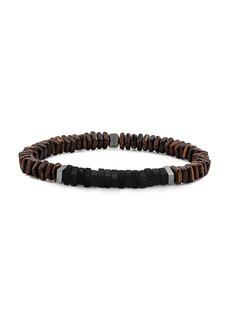 Tateossian Wood Sterling Silver Bracelet