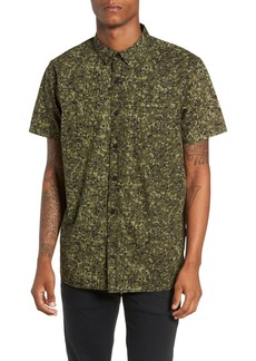 Tavik Porter Camo Print Oxford Shirt
