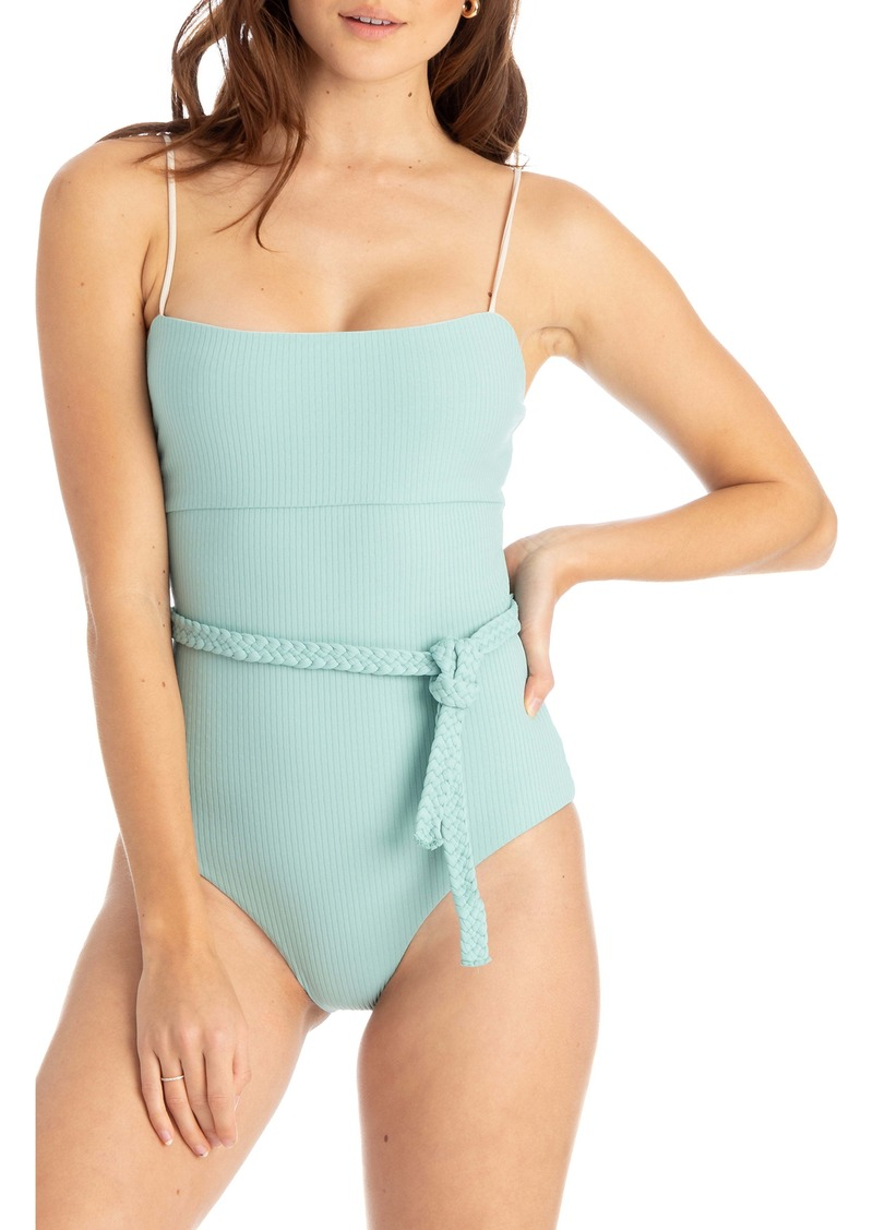 TAVIK Ribbed Belted One-Piece Swimsuit