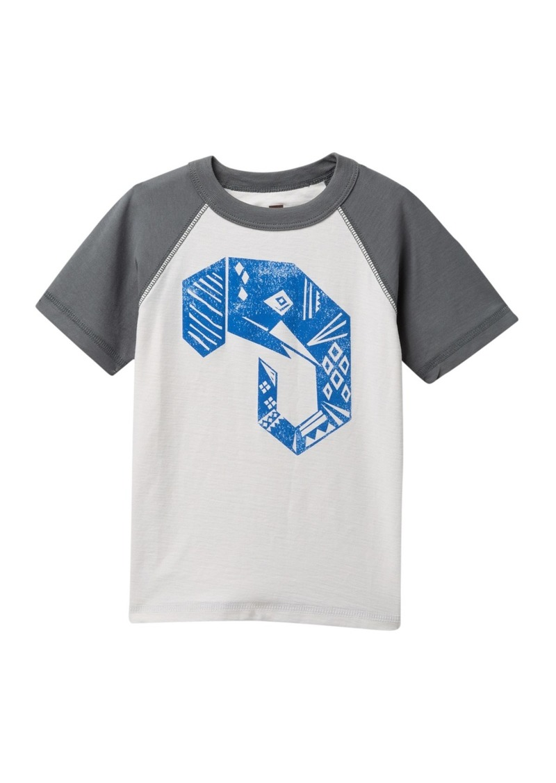 Tea Collection Elephant Raglan Graphic Tee (Toddler & Little Boys)